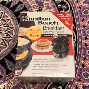 Hamilton beach breakfast sandwhich maker